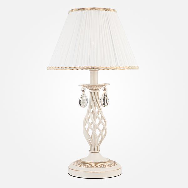 Настольный светильник Eurosvet10054/1 белый с золотом/прозрачный хрусталь Strotskis