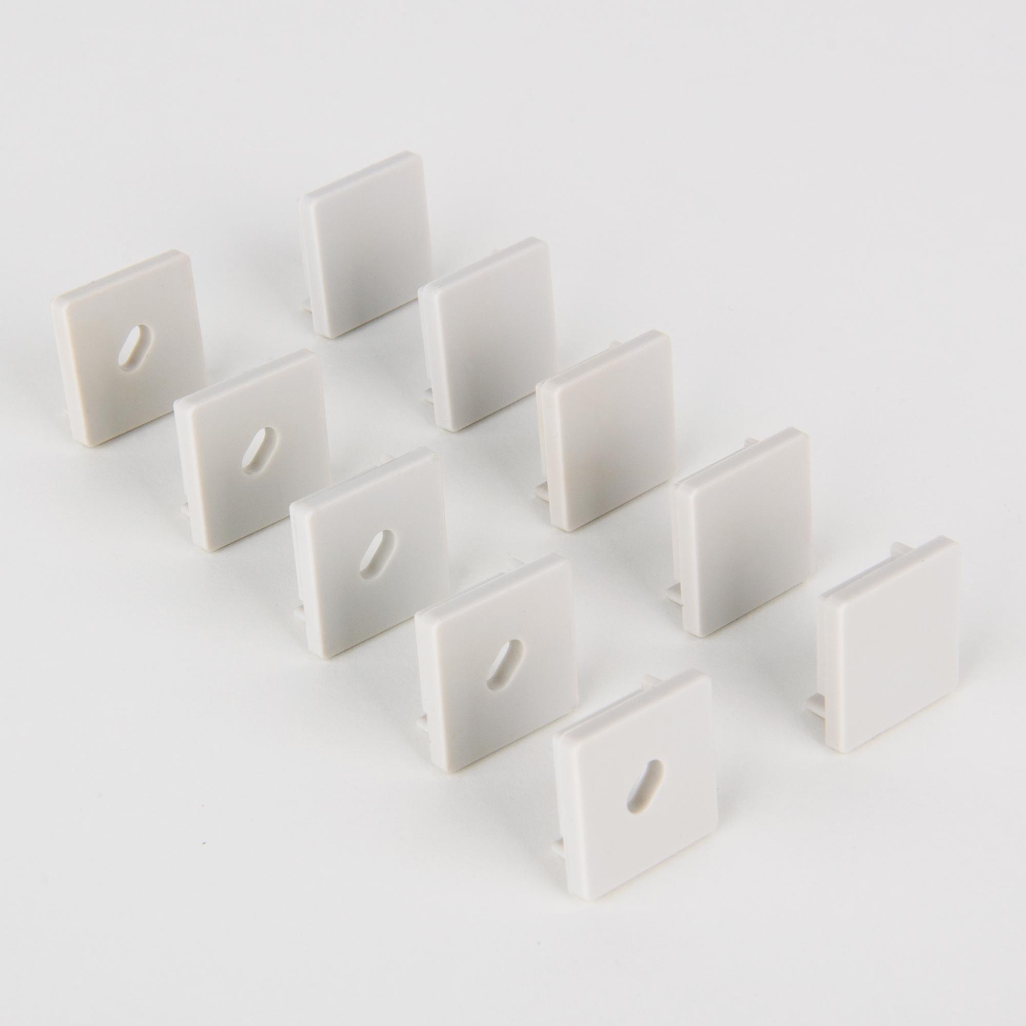 ZLL-2-ALP009 Заглушки для квадратного углового алюм. профиля для LED ленты (10mm) (компл. 5 пар)