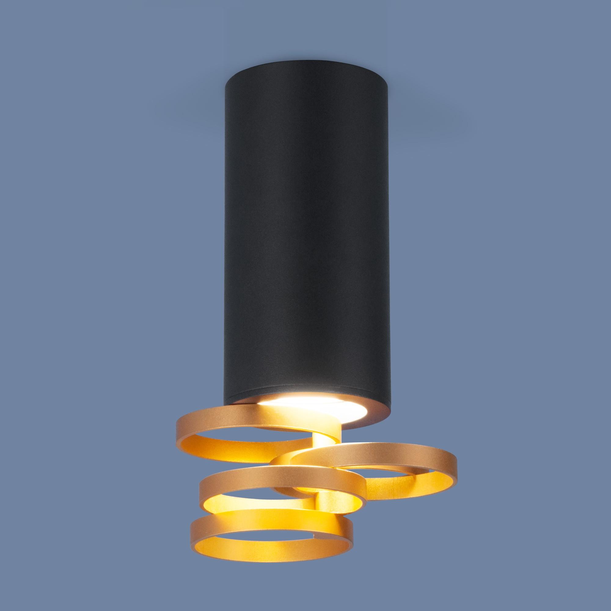 DLN102 GU10 черный/золото