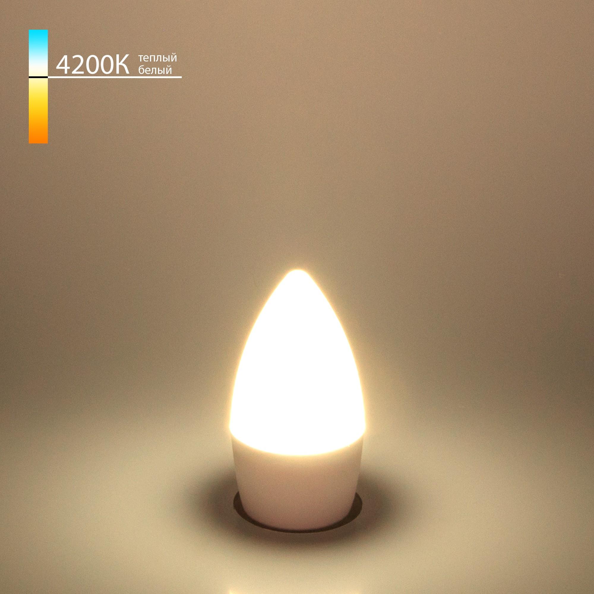 Свеча СD LED 6W 4200K E27 (BLE2737)