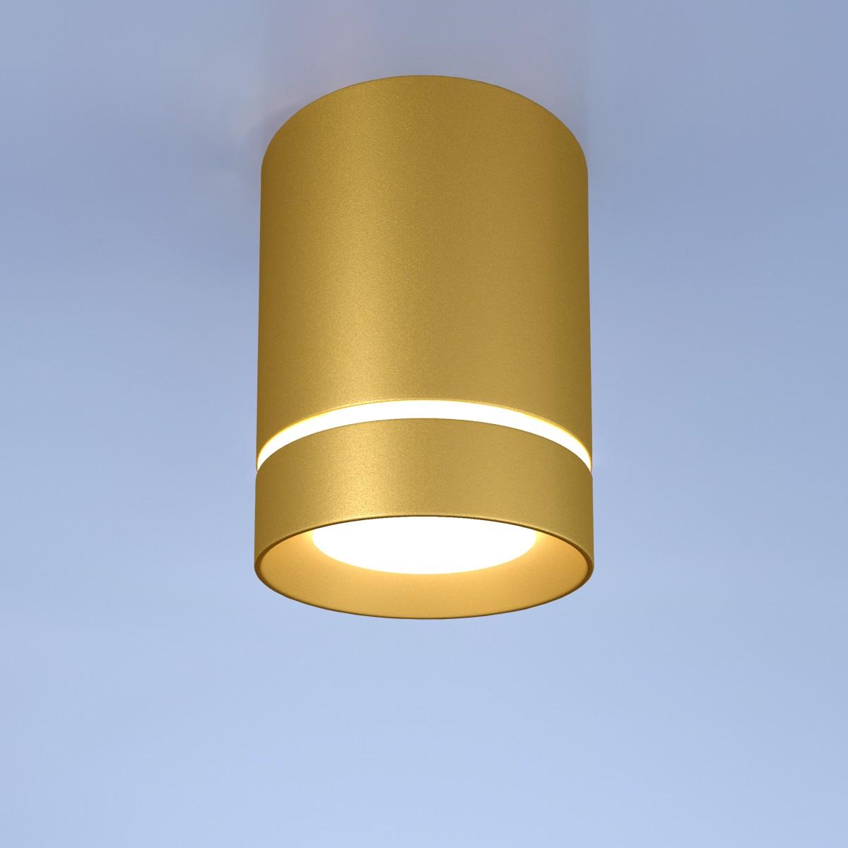 DLR021 9W 4200K золото матовый