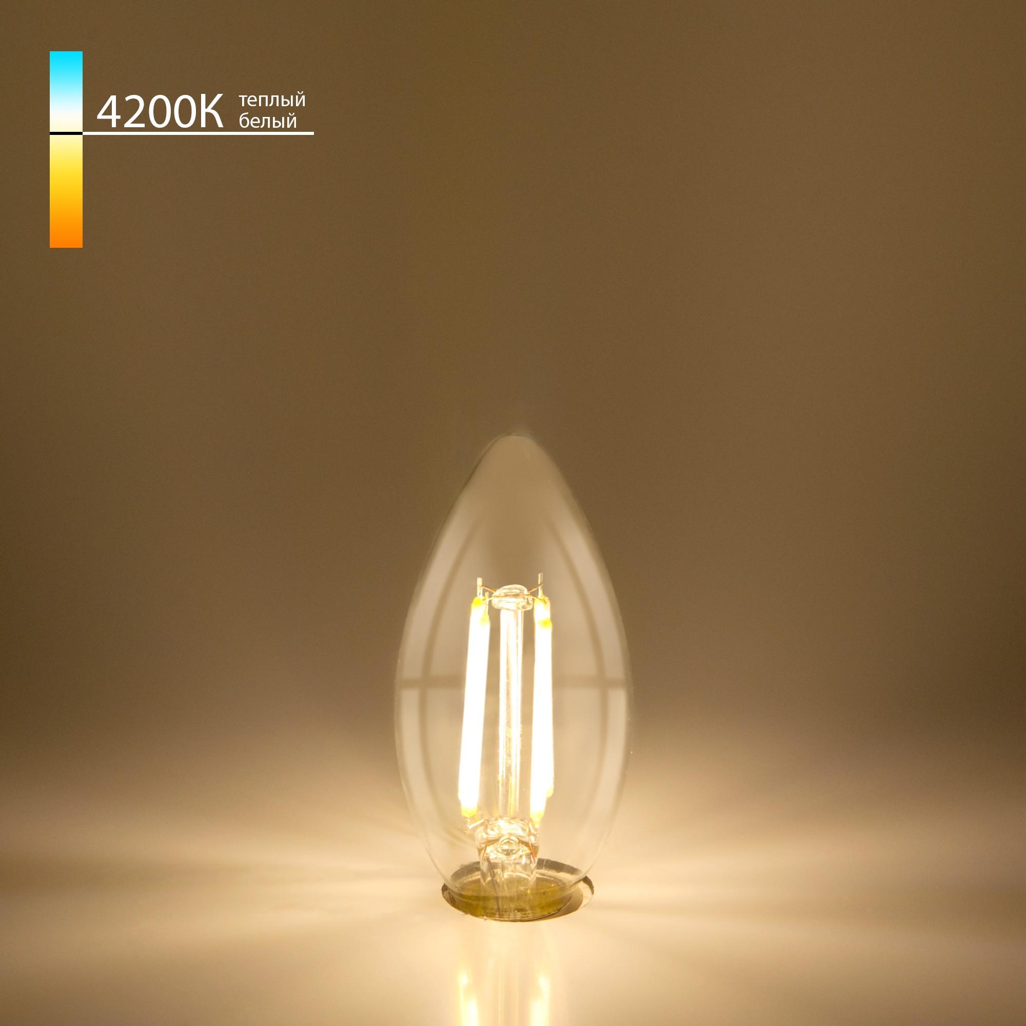 Свеча BLE1426 9W 4200K E14 (CW35 прозрачный)