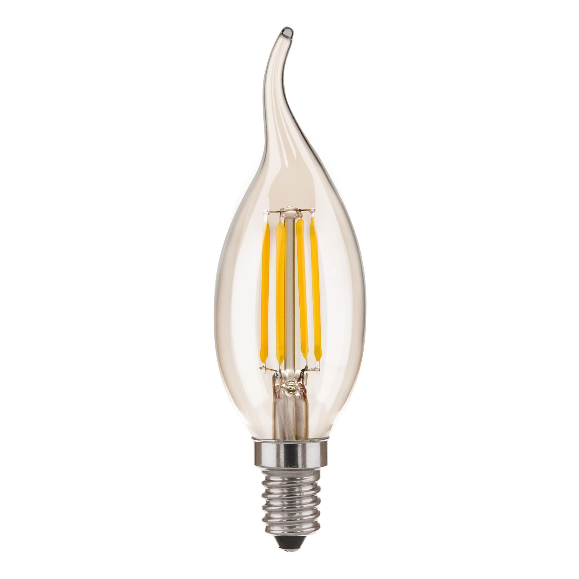 Свеча на ветру BLE1428 9W 3300K E14 (CW35 прозрачный)