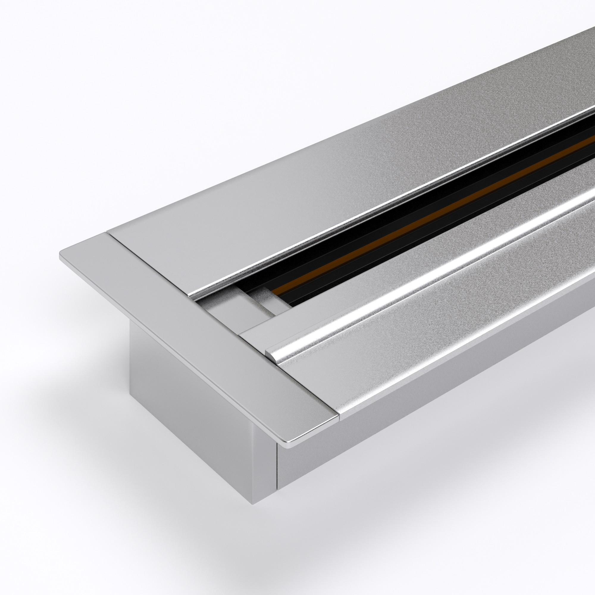 TRLM-1-100-CH  / Встраиваемый однофазный шинопровод серебристый (1м.)
