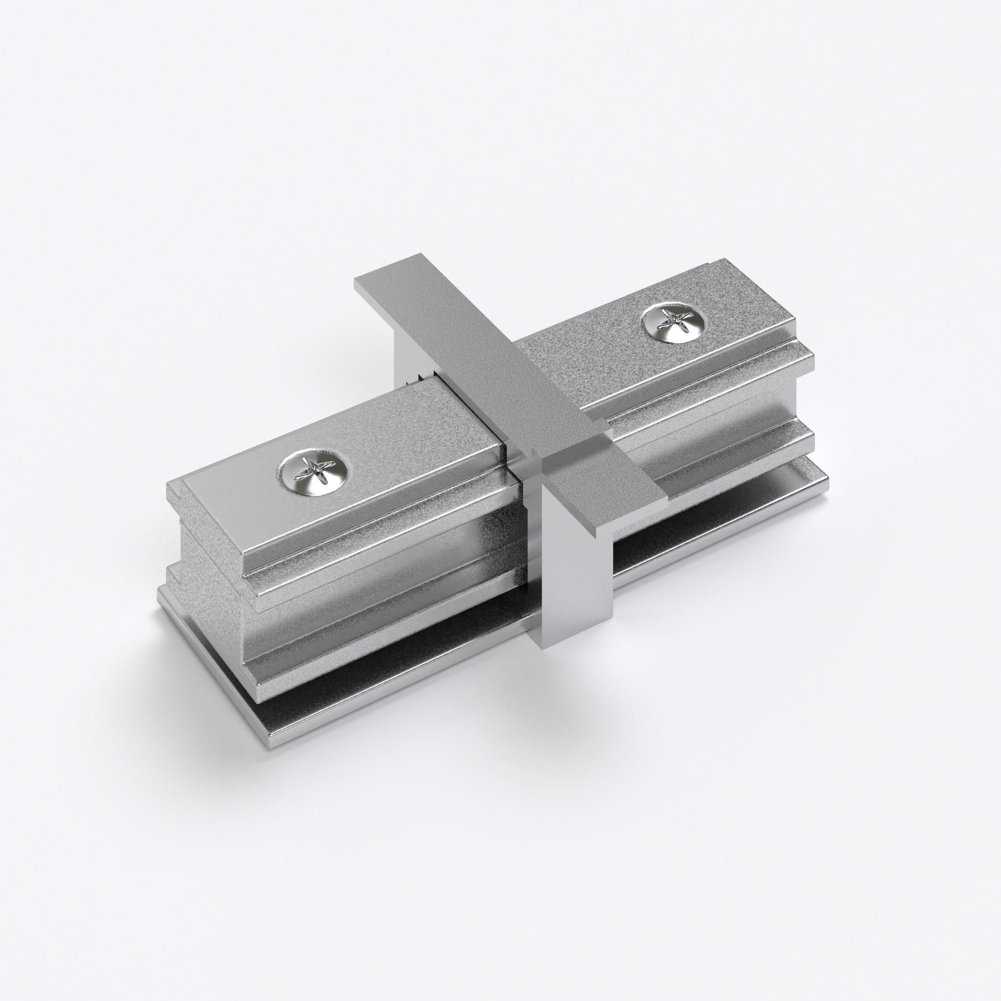 TRCM-1-I-CH/ Коннектор прямой для однофазного встраиваемого шинопровода (серебристый)