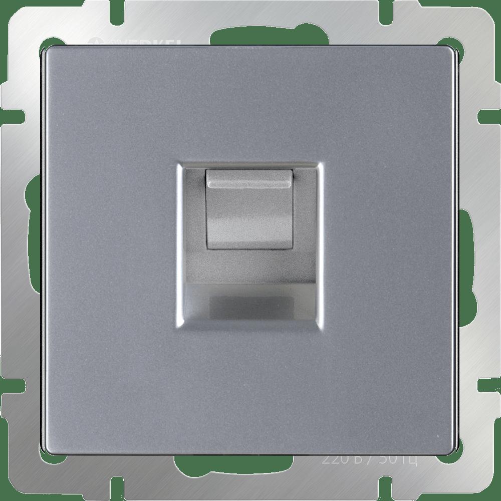 WL06-RJ-45/ Розетка Ethernet RJ-45 (серебряный)