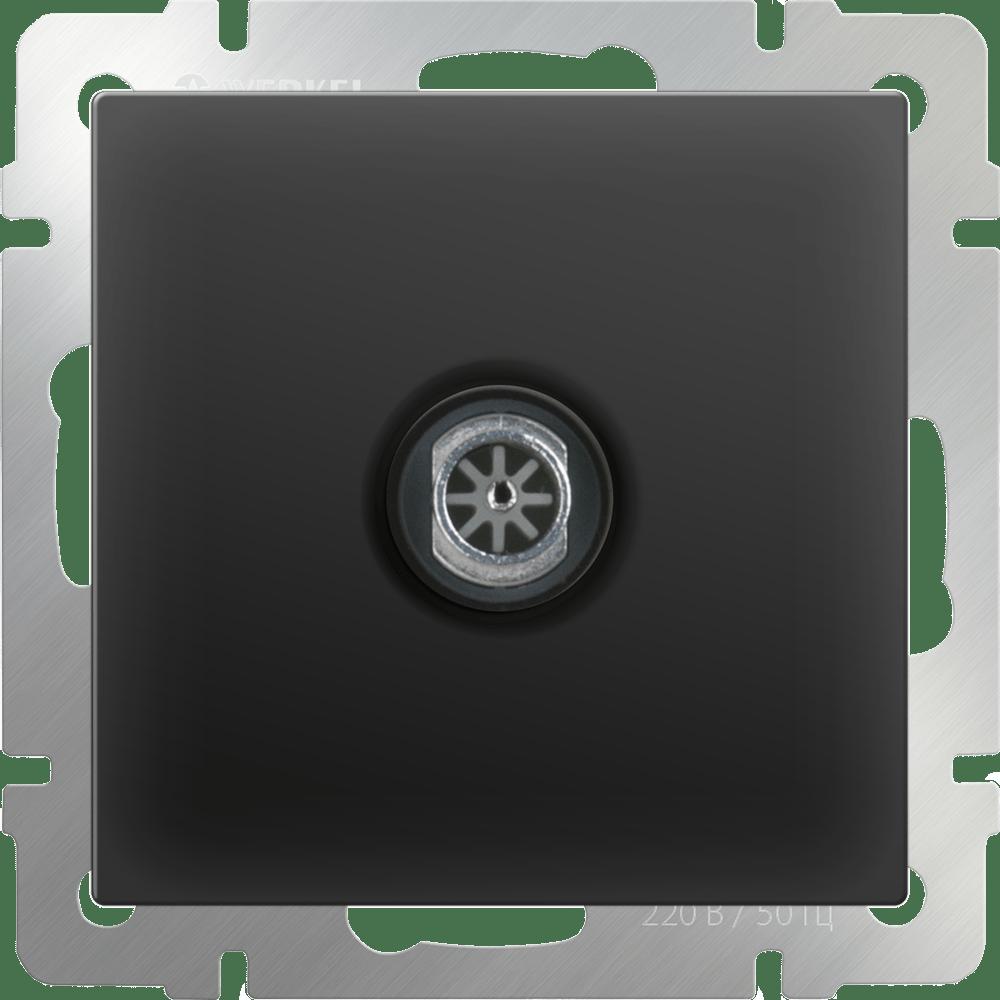 WL08-TV-2W/ ТВ-розетка проходная  (черный матовый)