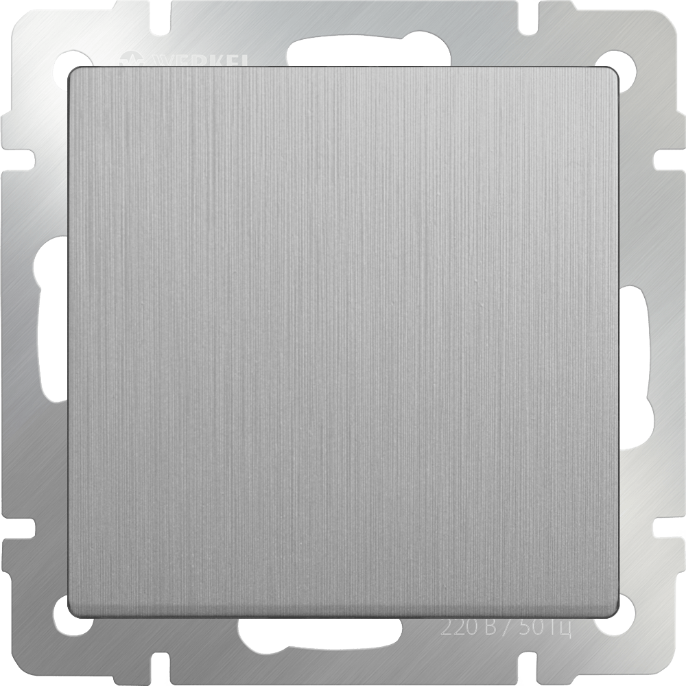 WL09-SW-1G-2W / Выключатель одноклавишный проходной (cеребряный рифленый)