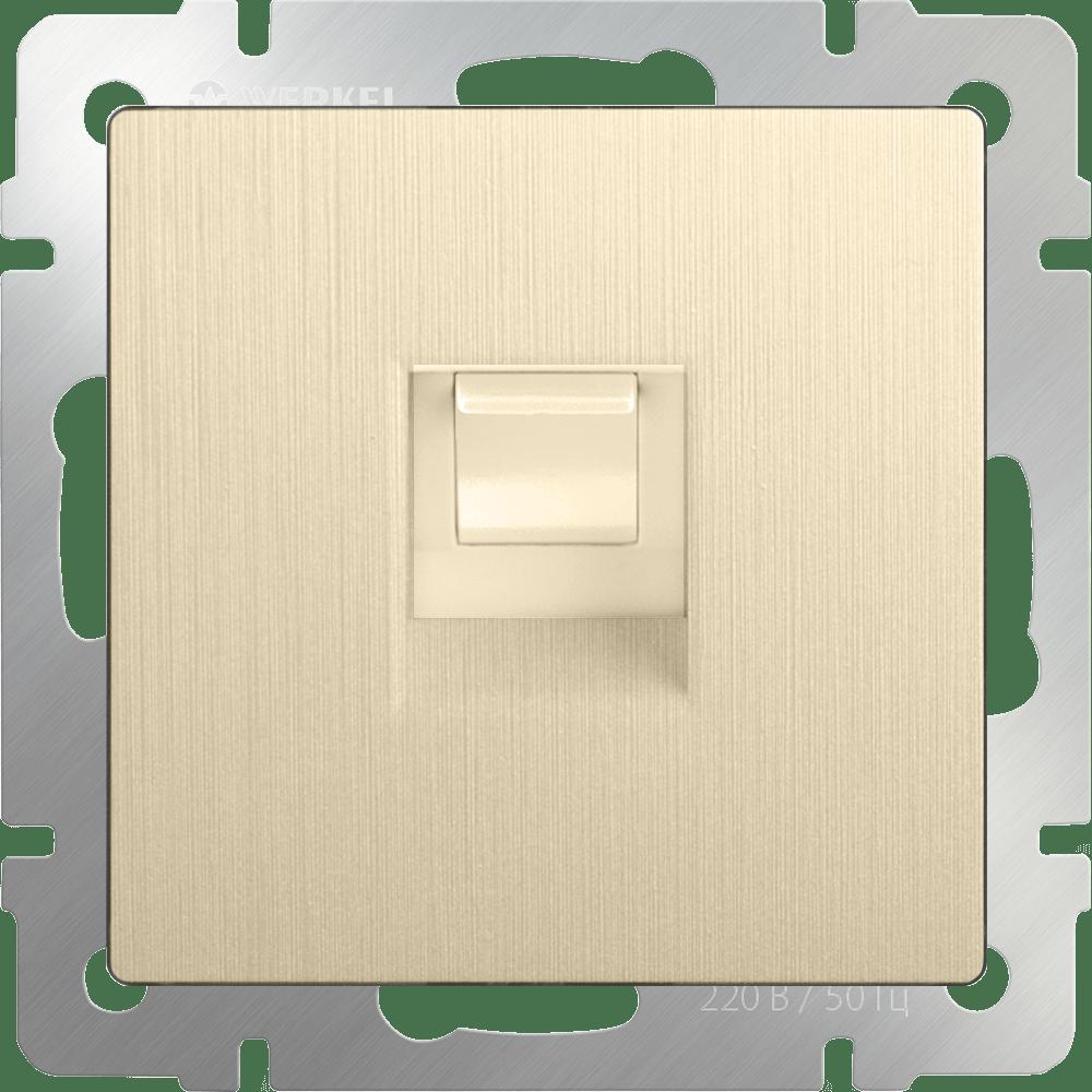 WL10-RJ-45 / Розетка Ethernet RJ-45 (шампань рифленый)