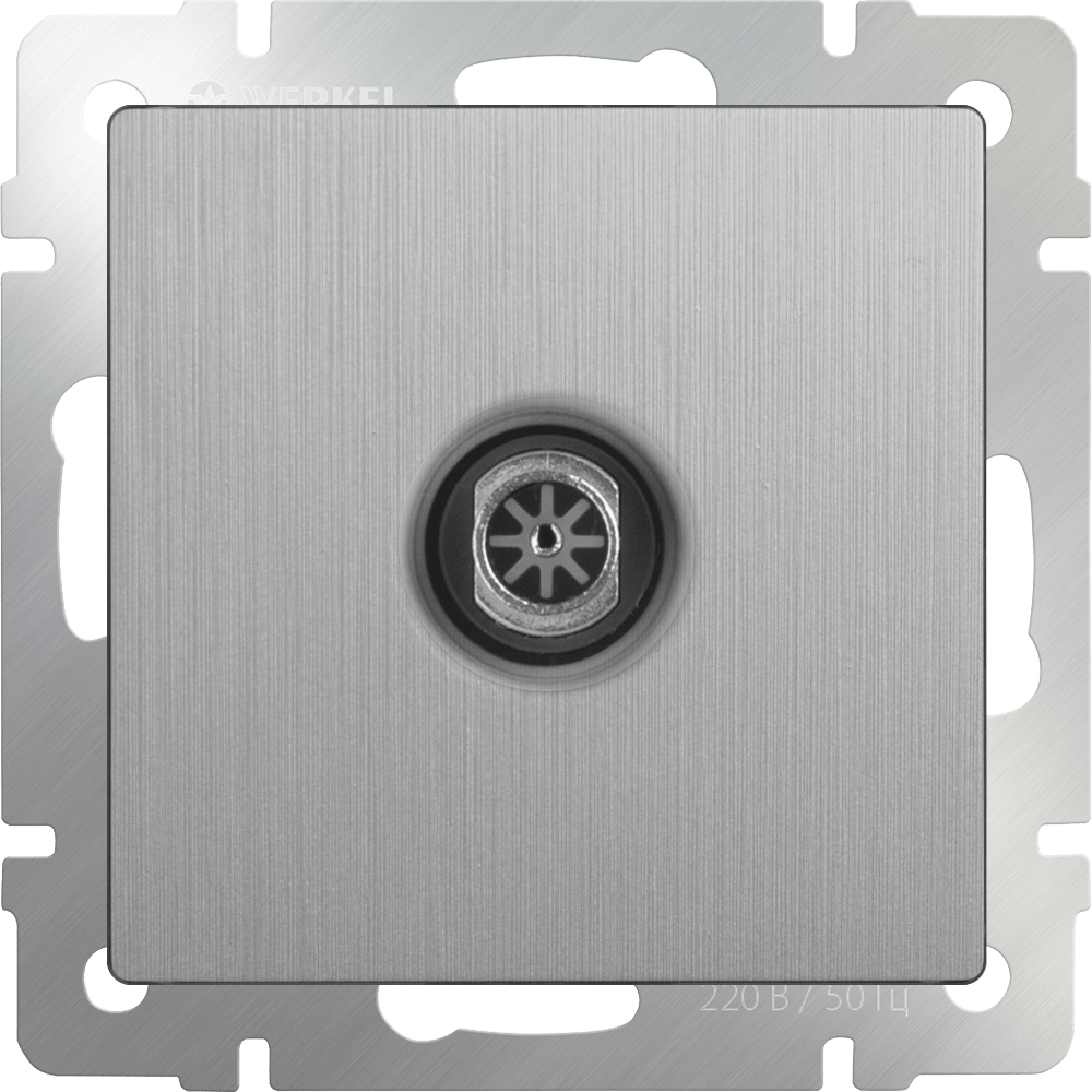 WL09-TV / ТВ-розетка оконечная  (cеребряный рифленый)