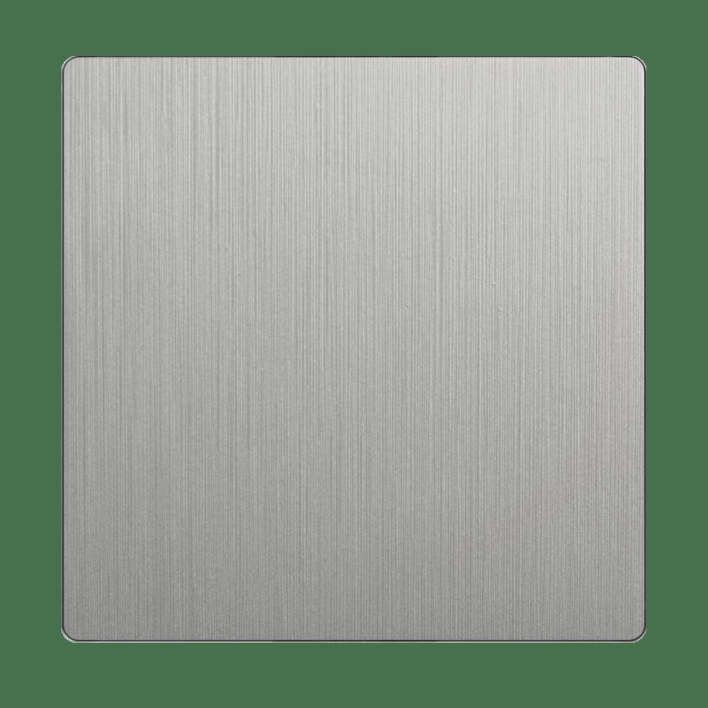 WL09-SW-1G-C-CP/ Клавиша для выключателя перекрестного (серебряный рифленый)
