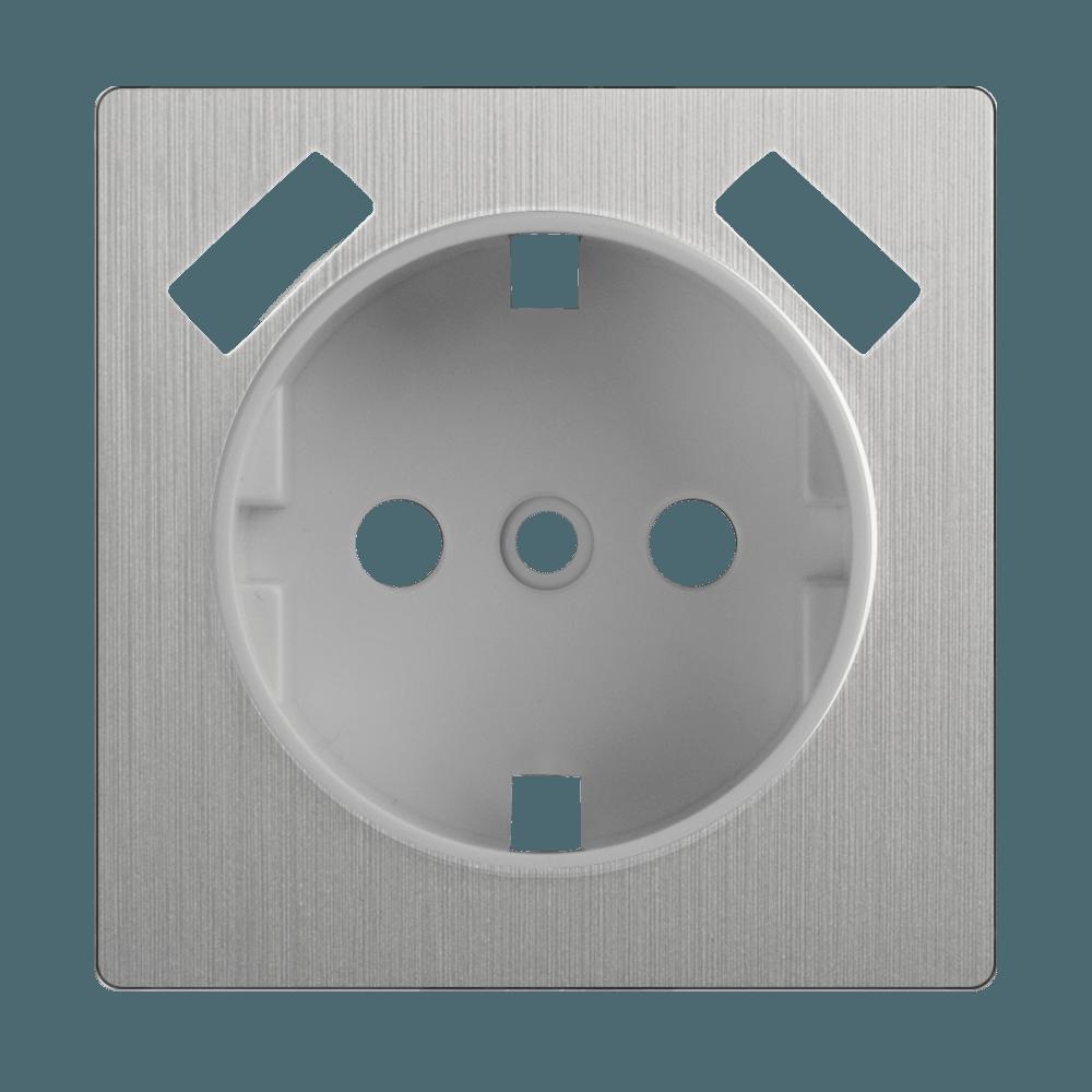 WL09-USB-CP/ Накладка  для розетки USB (cеребряный рифленый)