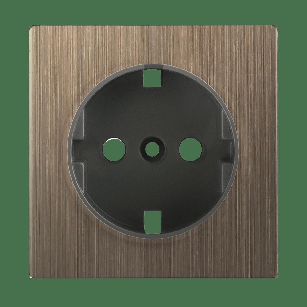 WL12-SKGS-IP20-CP/ Накладка для розетки IP20 (бронзовый)