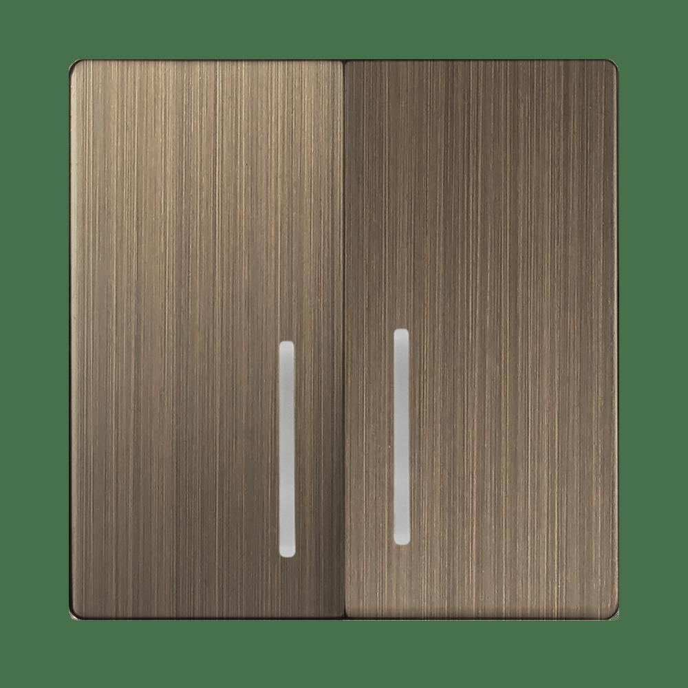WL12-SW-2G-LED-CP/ Набор клавиш для выключателя двухклавишного с подсветкой (бронзовый)