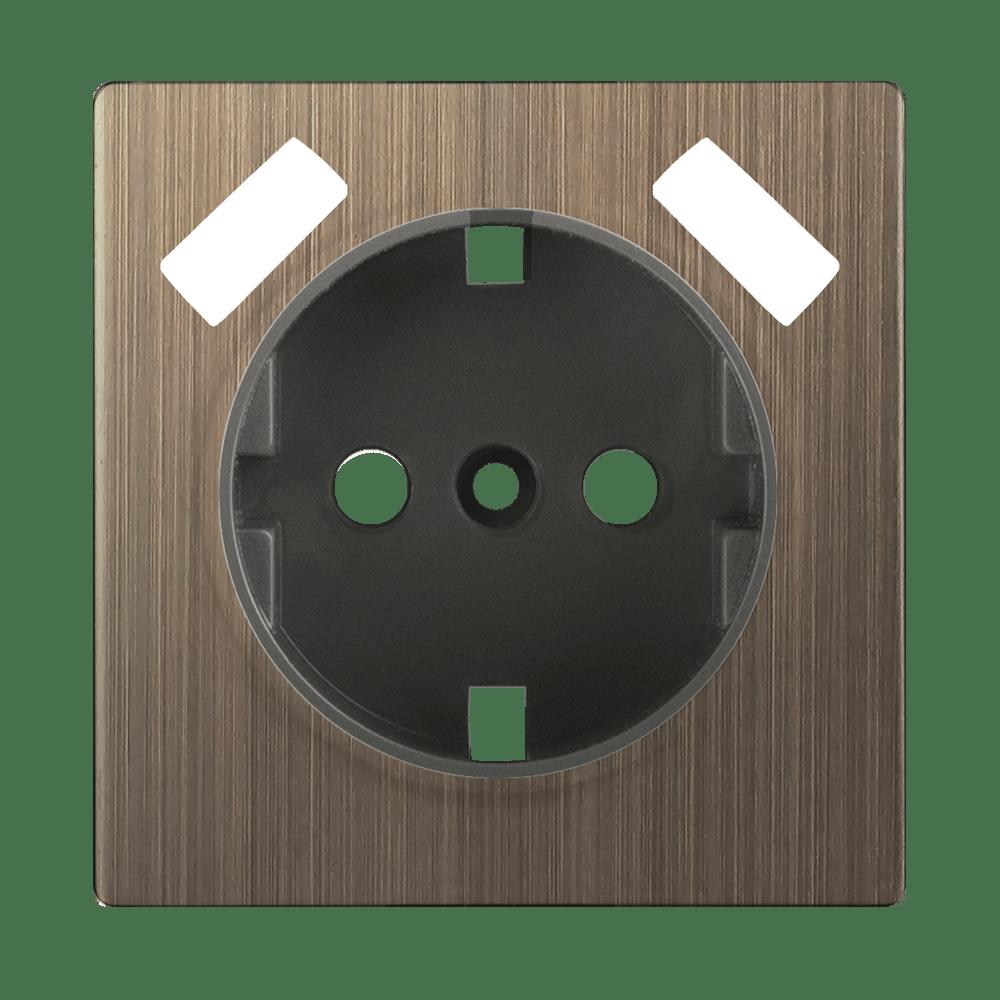 WL12-USB-CP/ Накладка для USB розетки (бронзовый)