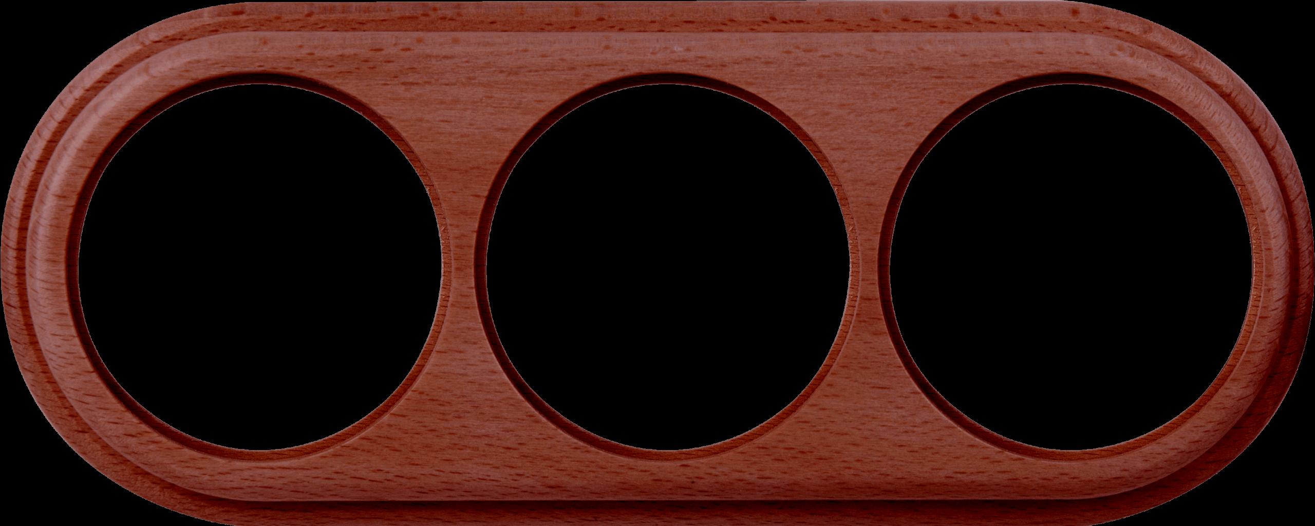 WL15-frame-03 /  Рамка на 3 поста (итальянский орех)