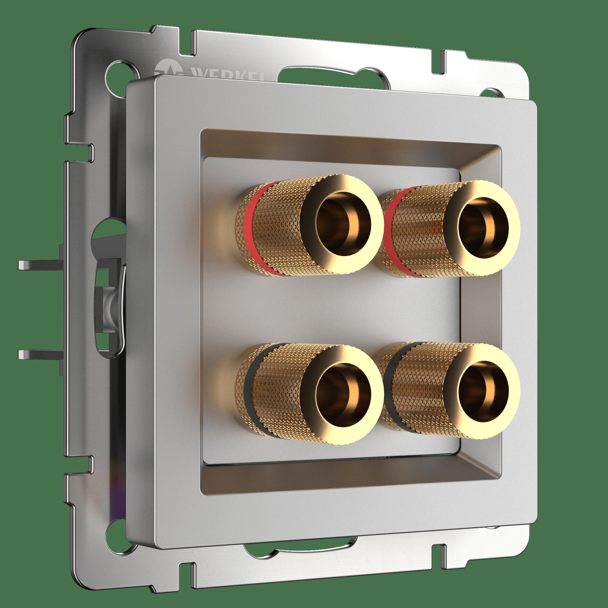 WL06-AUDIOx4 / Акустическая розетка (серебряный)