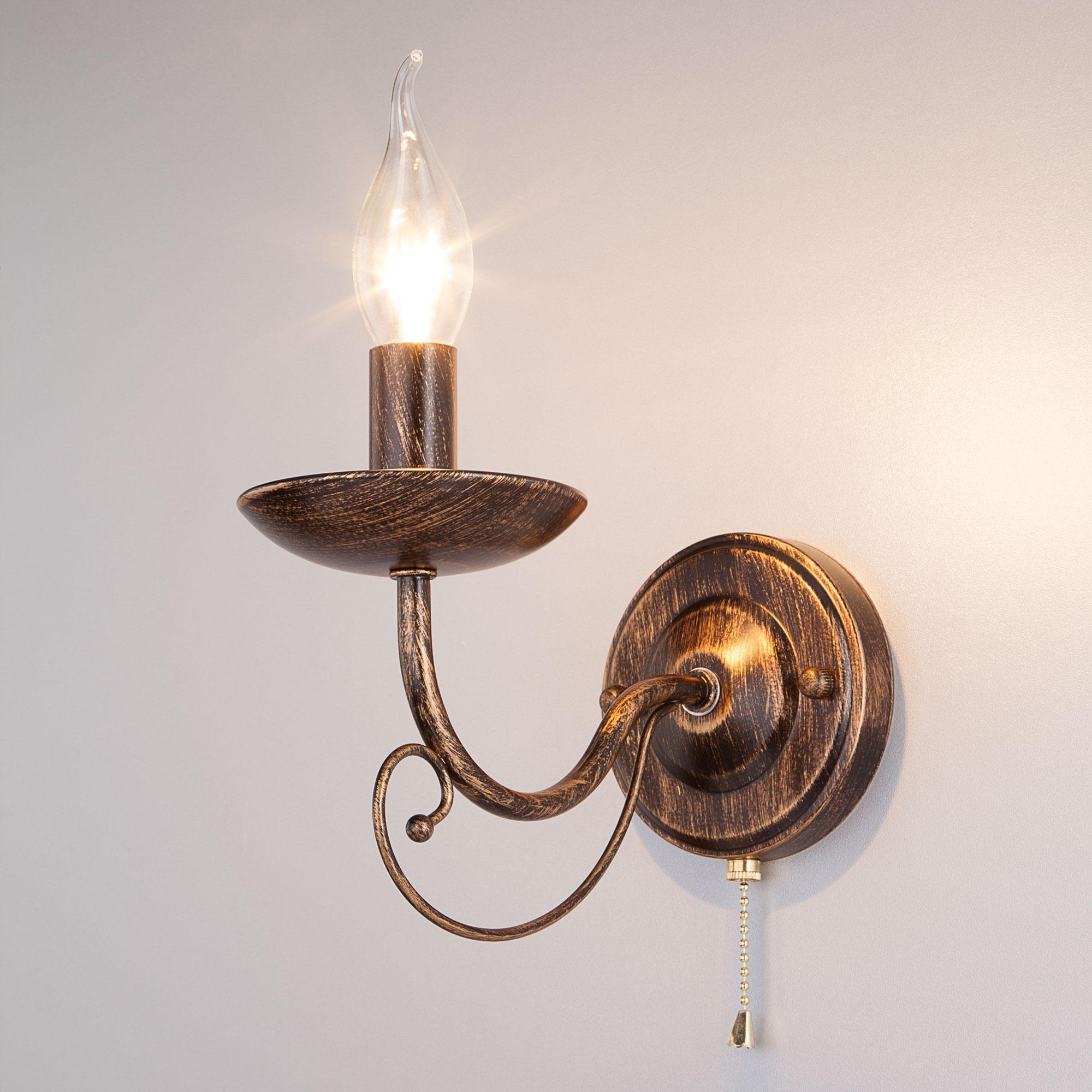 Настенный светильник Eurosvet 22404/1 черный с золотом