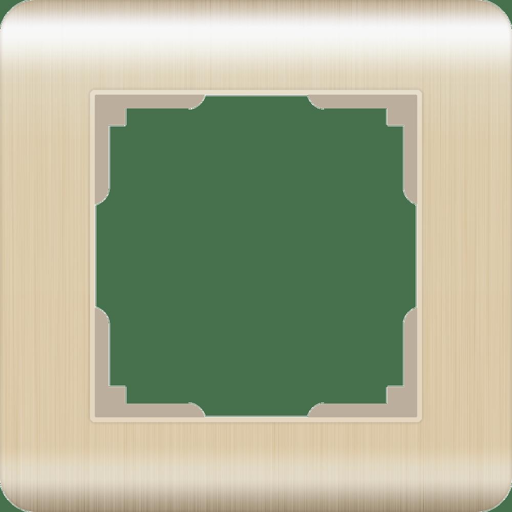 Рамка на 1 пост WL12-Frame-01 шампань