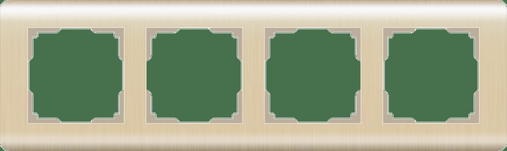 WL12-Frame-04 / Рамка на 4 поста  (шампань)