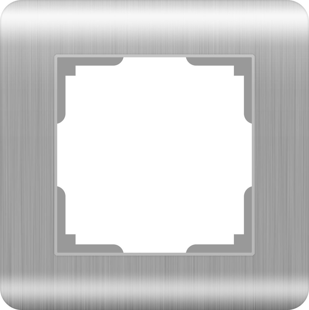 WL12-Frame-01 / Рамка на 1 пост (серебряный)