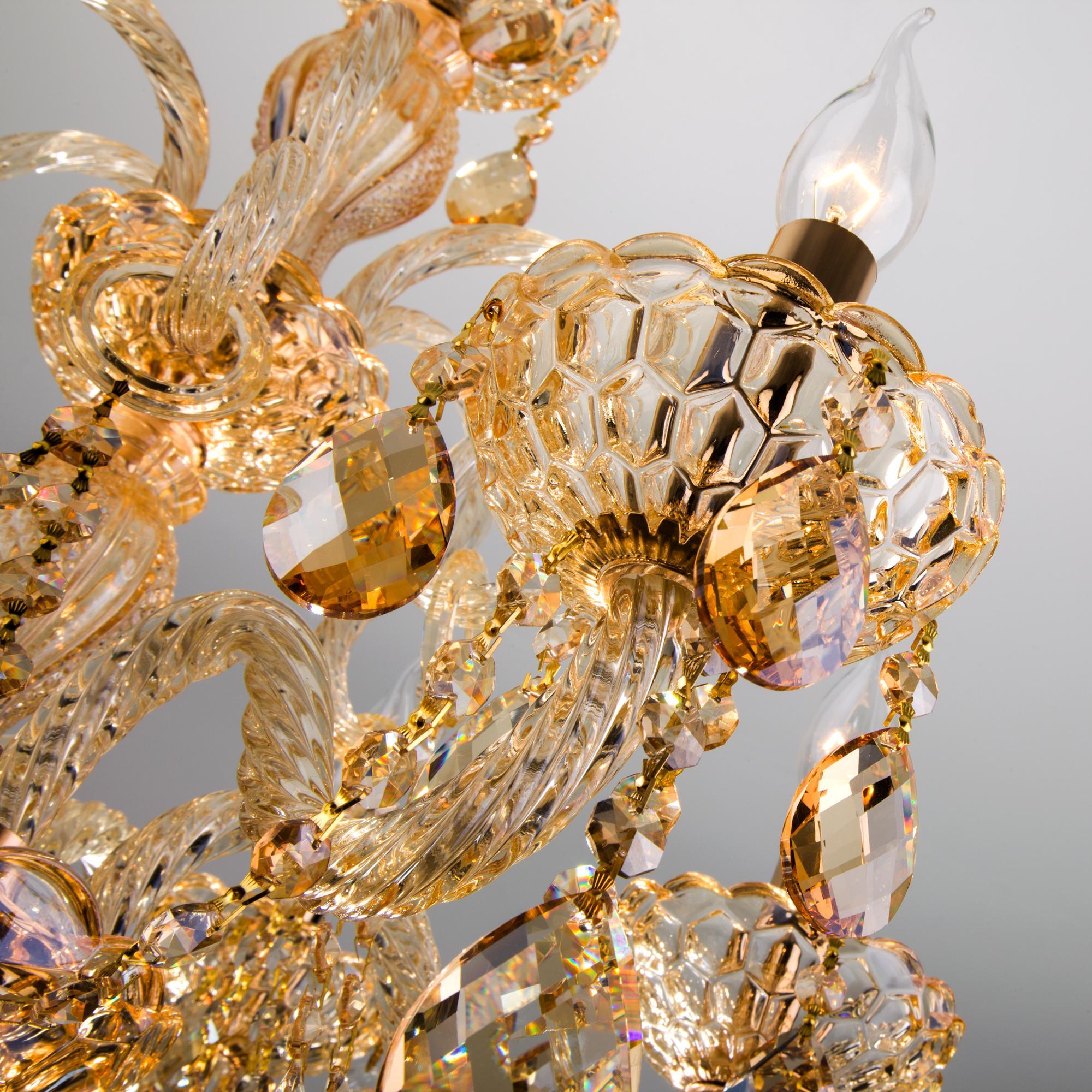 10097/6 золото/тонированный хрусталь Strotskis