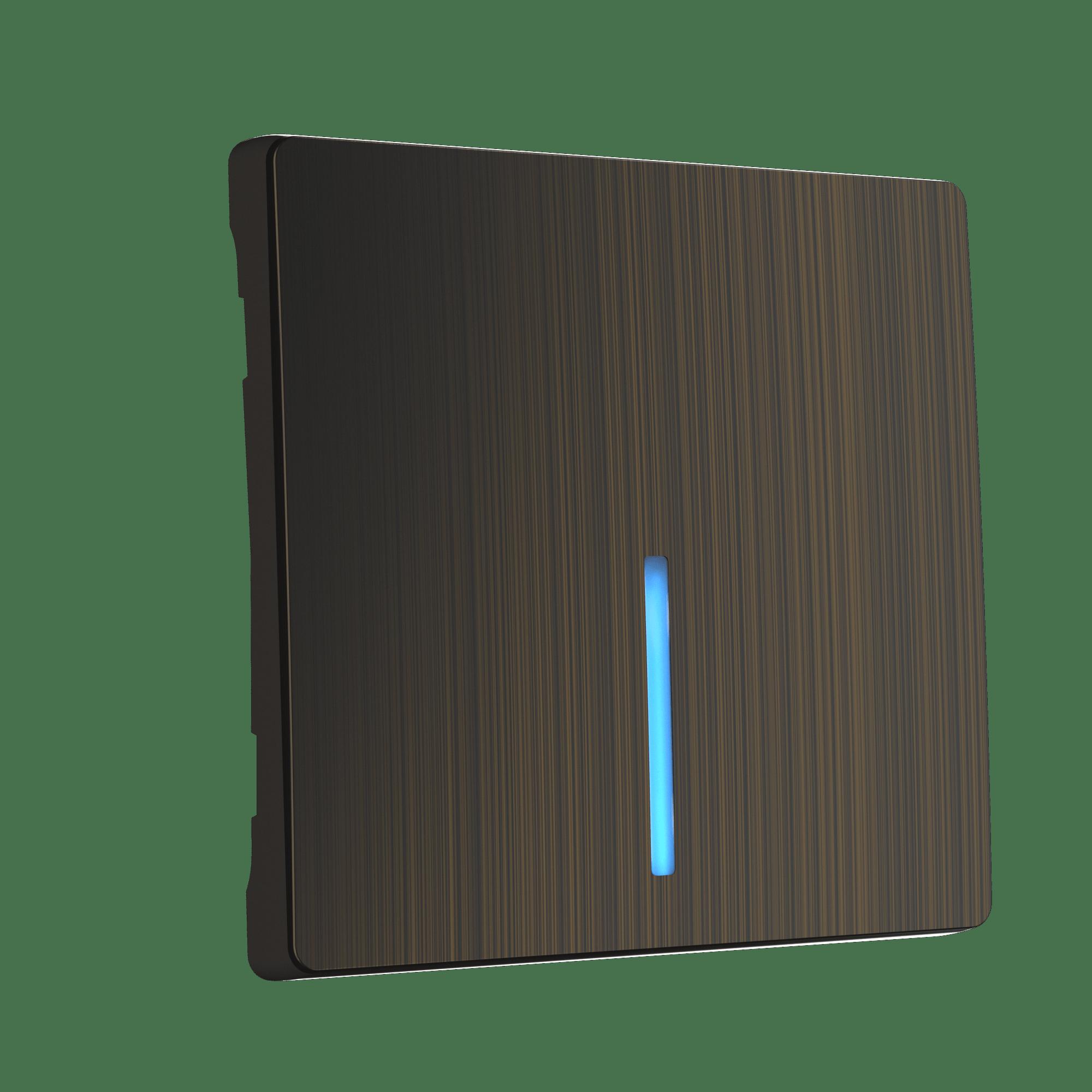 WL12-SW-1G-LED-CP/ Клавиша для выключателя c подсветкой (бронзовый)