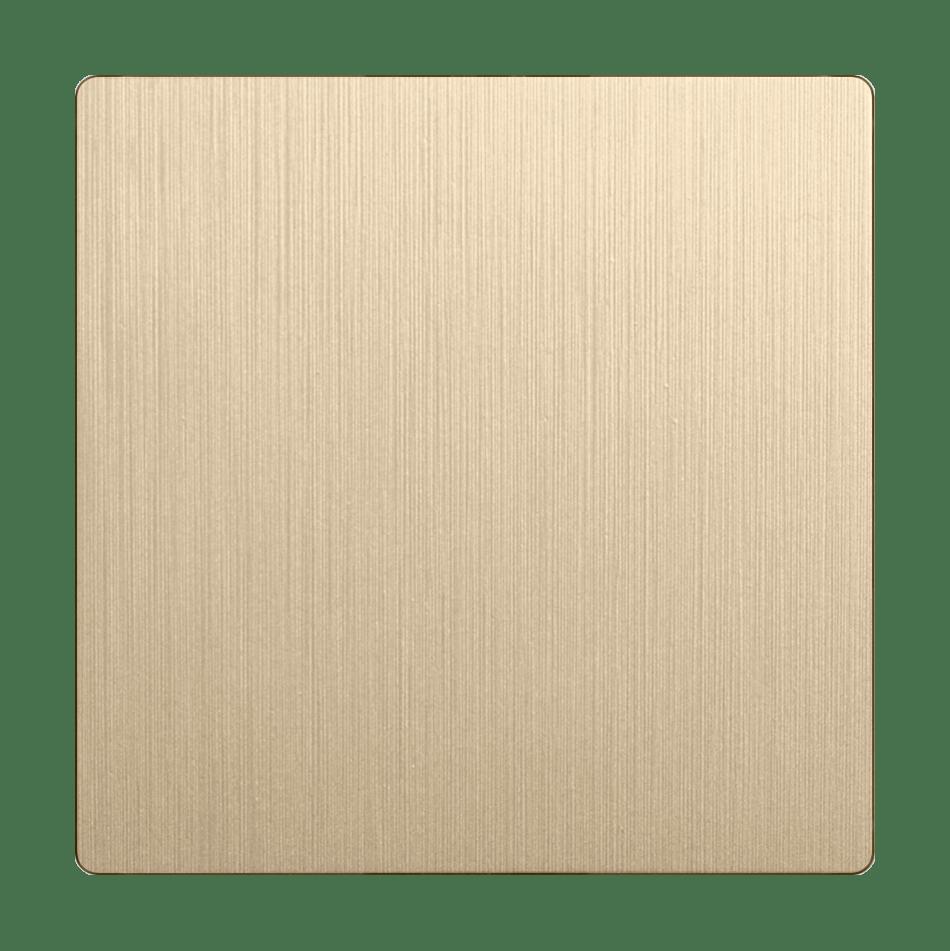 WL10-SW-1G-C-CP/ Клавиша для выключателя перекрестного (шампань рифленый)