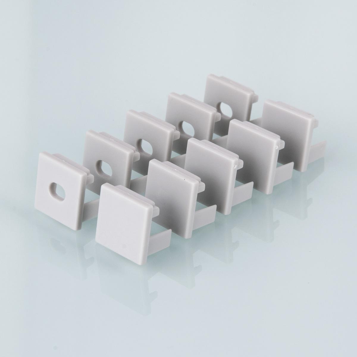 ZLL-2-ALP003 Заглушки для квадратного углового алюм.профиля для LED ленты (16mm) (компл. 10 пар)