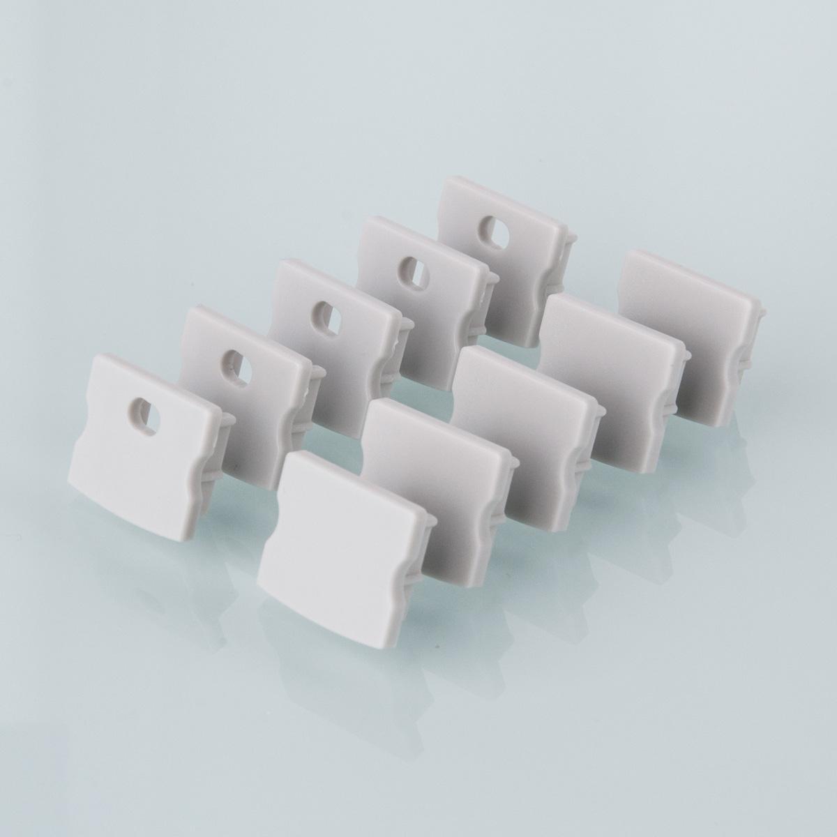 ZLL-2-ALP001-R Заглушки для накладного алюм.профиля для LED ленты (15mm) (компл. 10 пар)