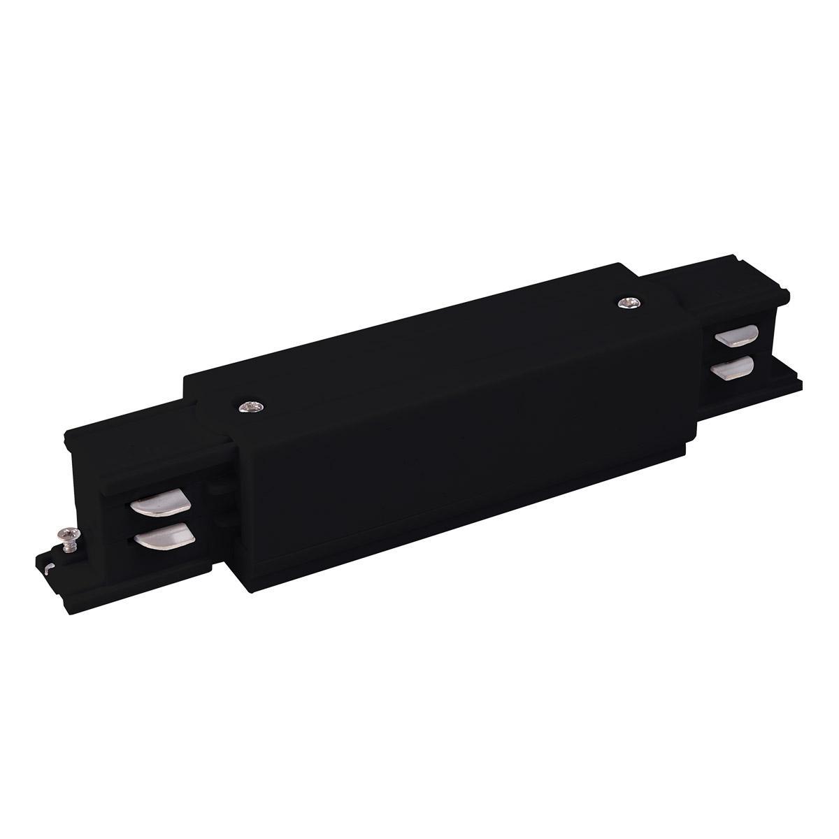 TRC-1-3-I-BK / Коннектор прямой для трехфазного шинопровода (черный)