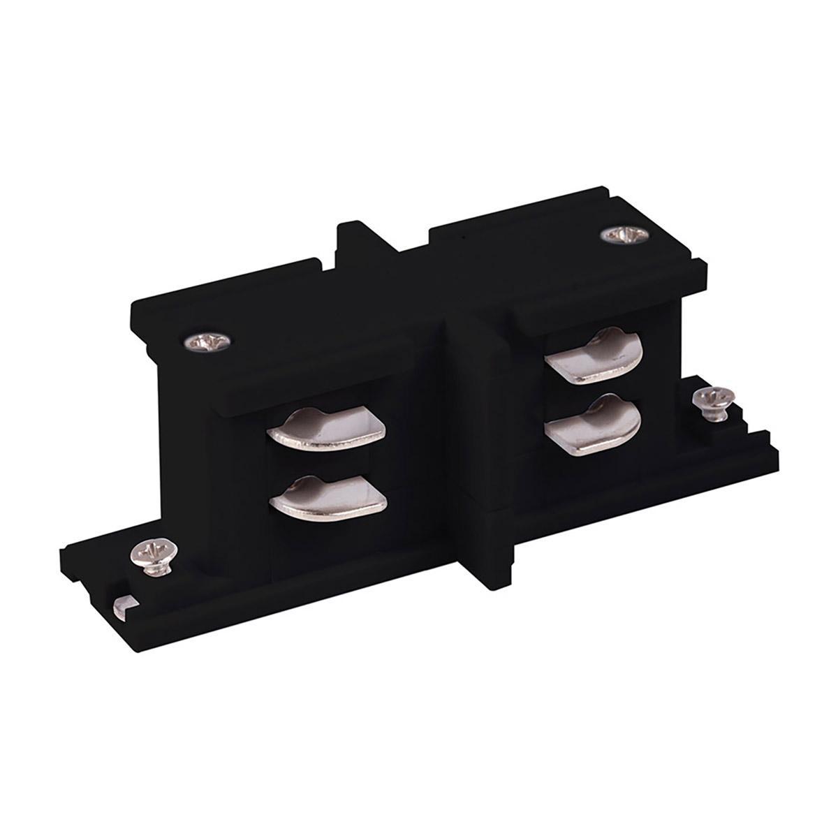 TRC-1-3-II-BK / Коннектор прямой внутренний для трехфазного шинопровода (черный)