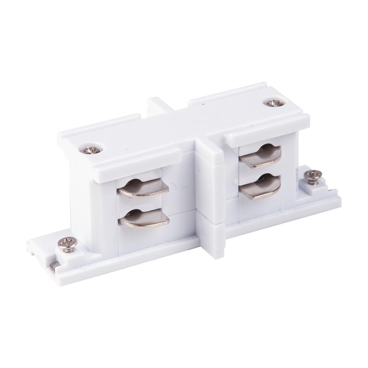 TRC-1-3-II-WH / Коннектор прямой внутренний для трехфазного шинопровода (белый)