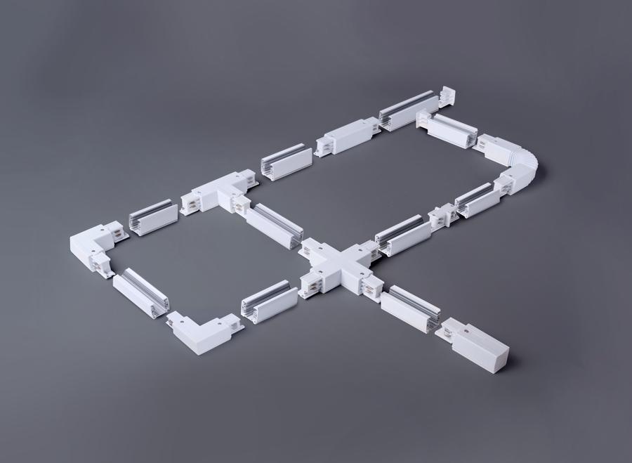 TRC-1-3-L-WH / Коннектор угловой для трехфазного шинопровода (белый)