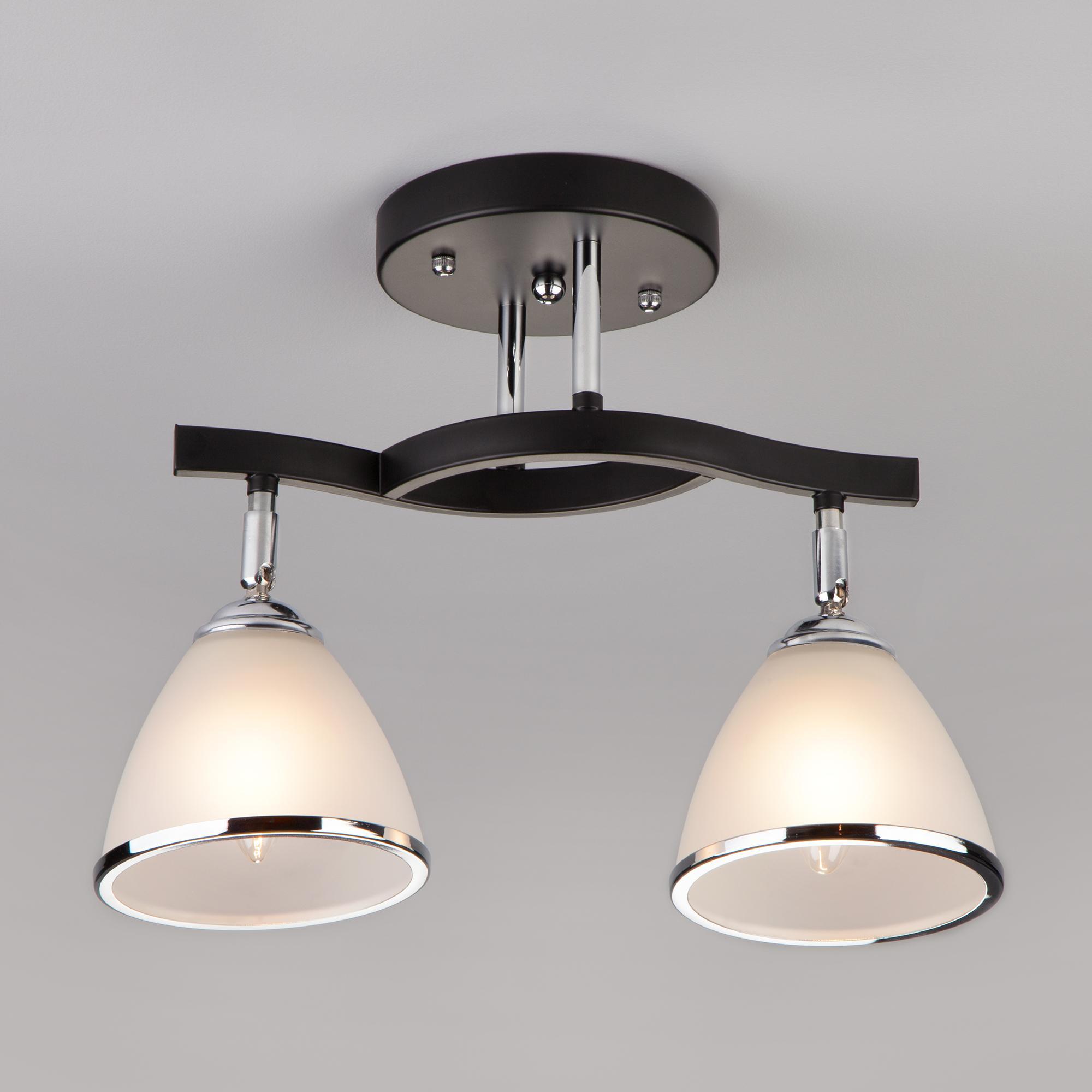 Потолочный светильник Eurosvet 9612/2 хром/венге