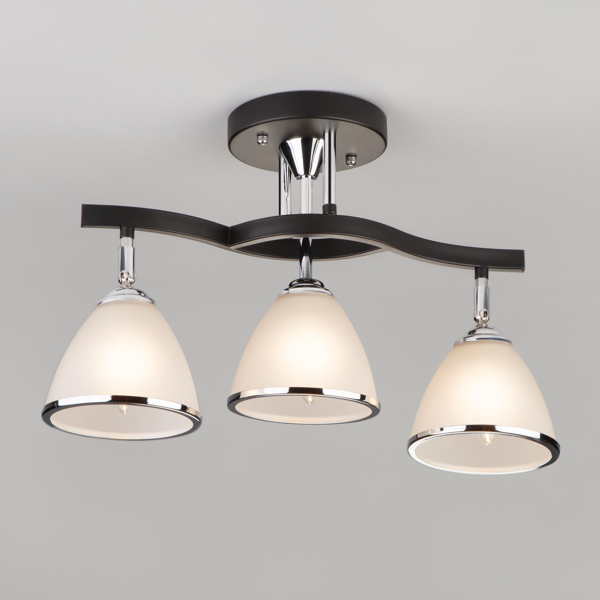 Потолочный светильник Eurosvet 9612/3 хром/венге
