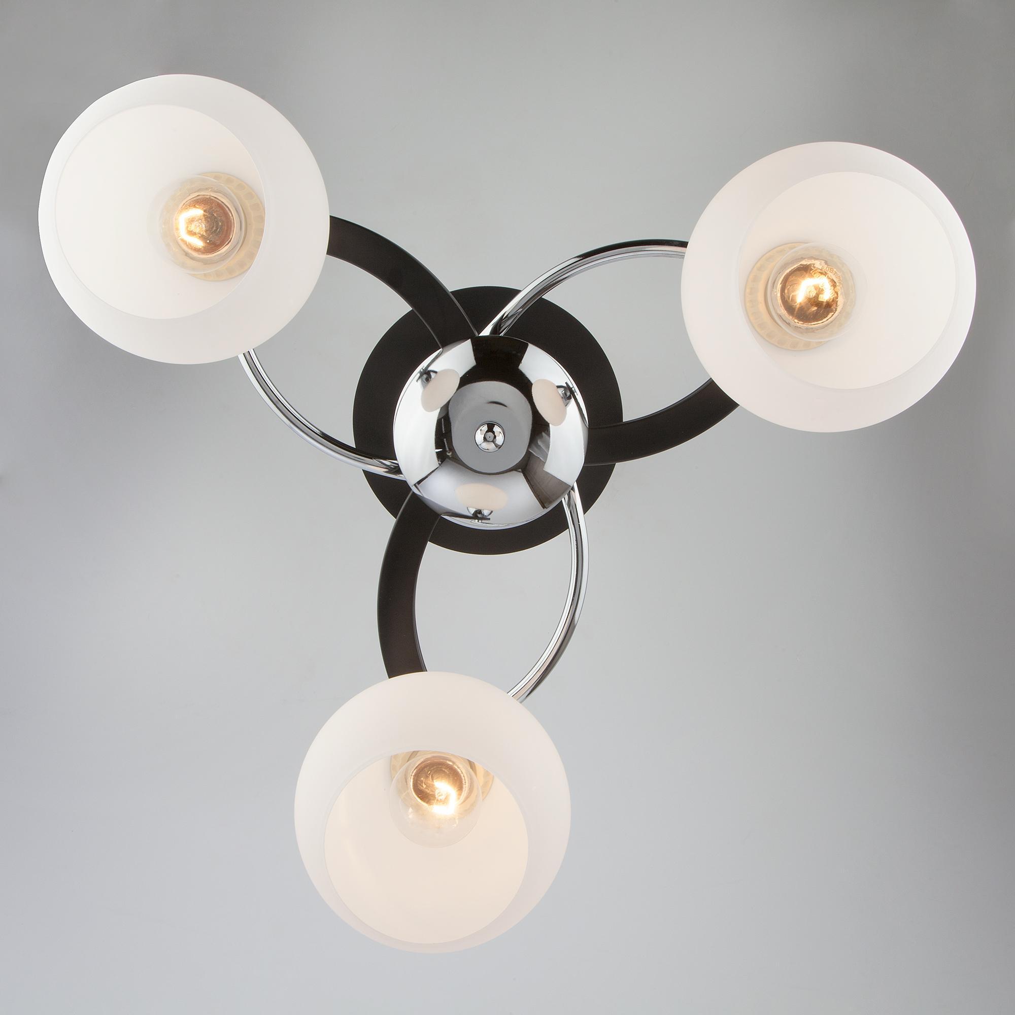Потолочный светильник Eurosvet 9654/3 хром/венге