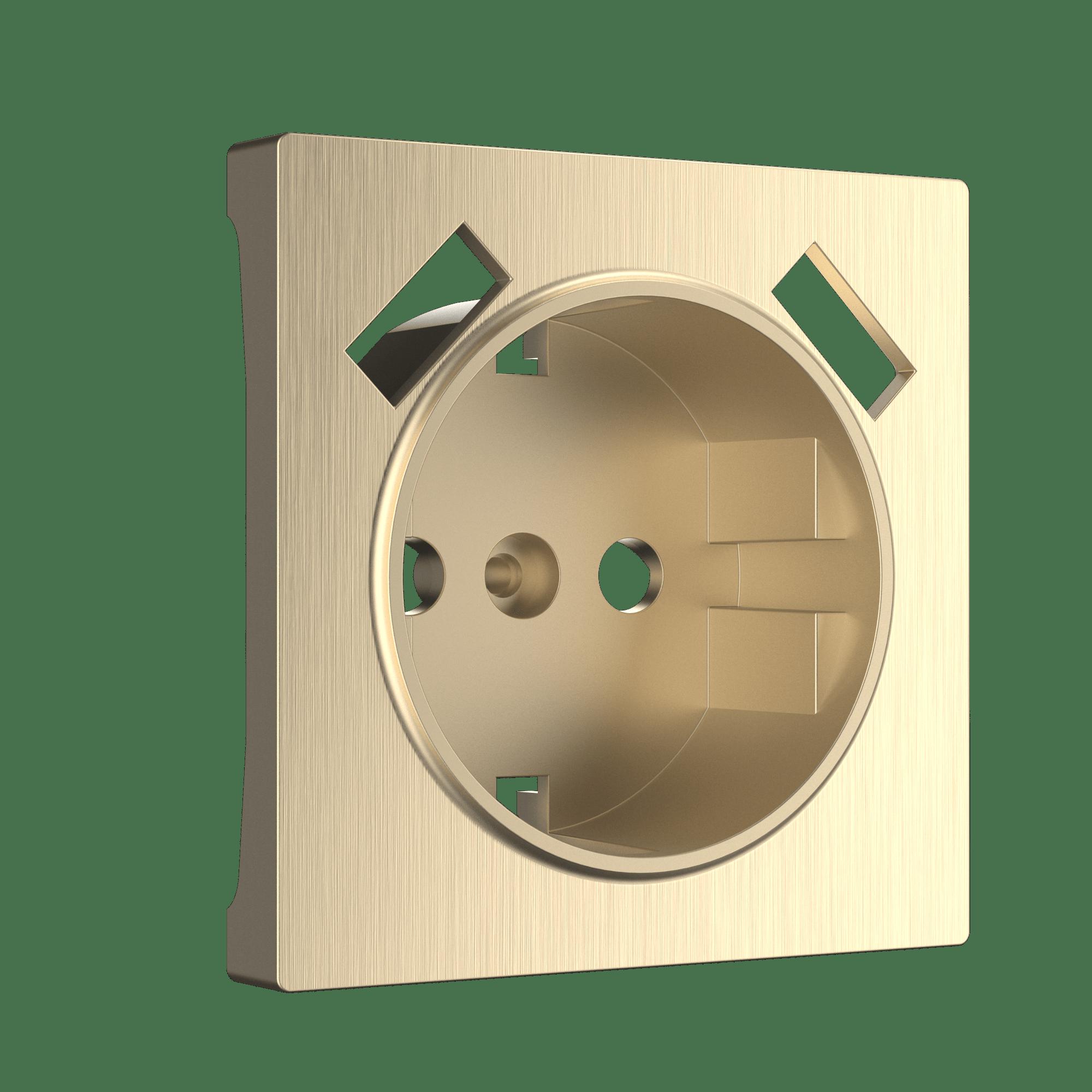 WL10-USB-CP/ Накладка  для розетки USB (шампань рифленый)