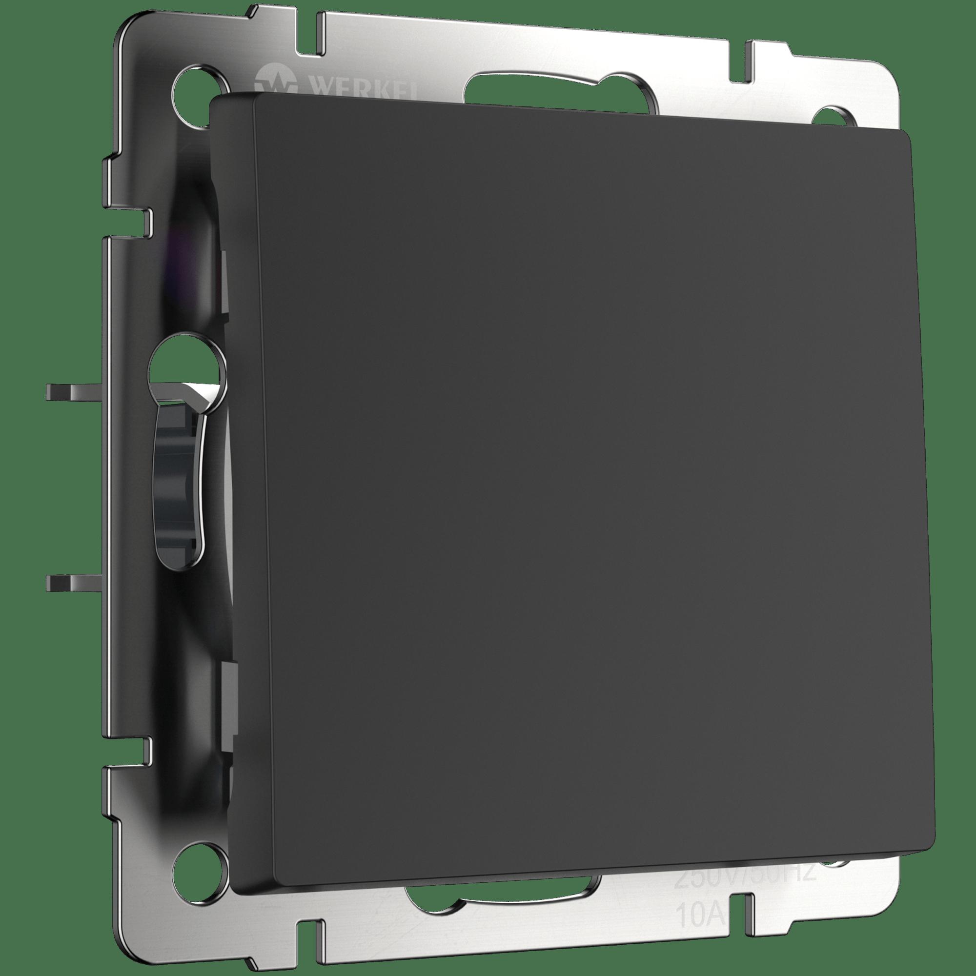 WL08-SW-1G-C / Перекрестный переключатель одноклавишный (черный матовый)