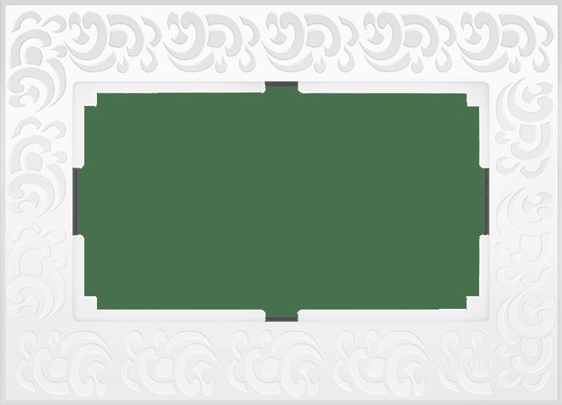 WL05-Frame-01-DBL-white / Рамка для двойной розетки (белый)