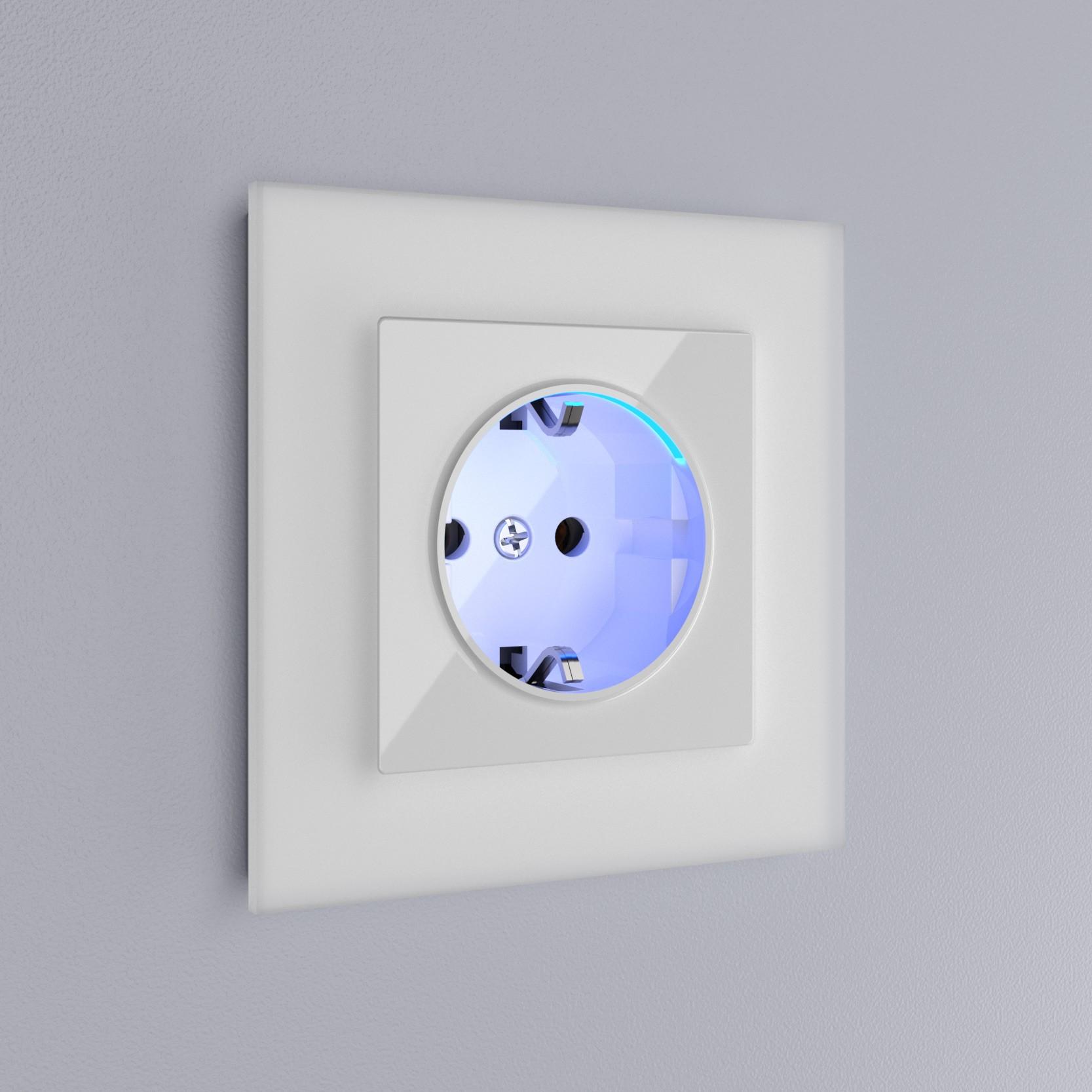 WL01-Frame-01 / Рамка на 1 пост (белый матовый,стекло)