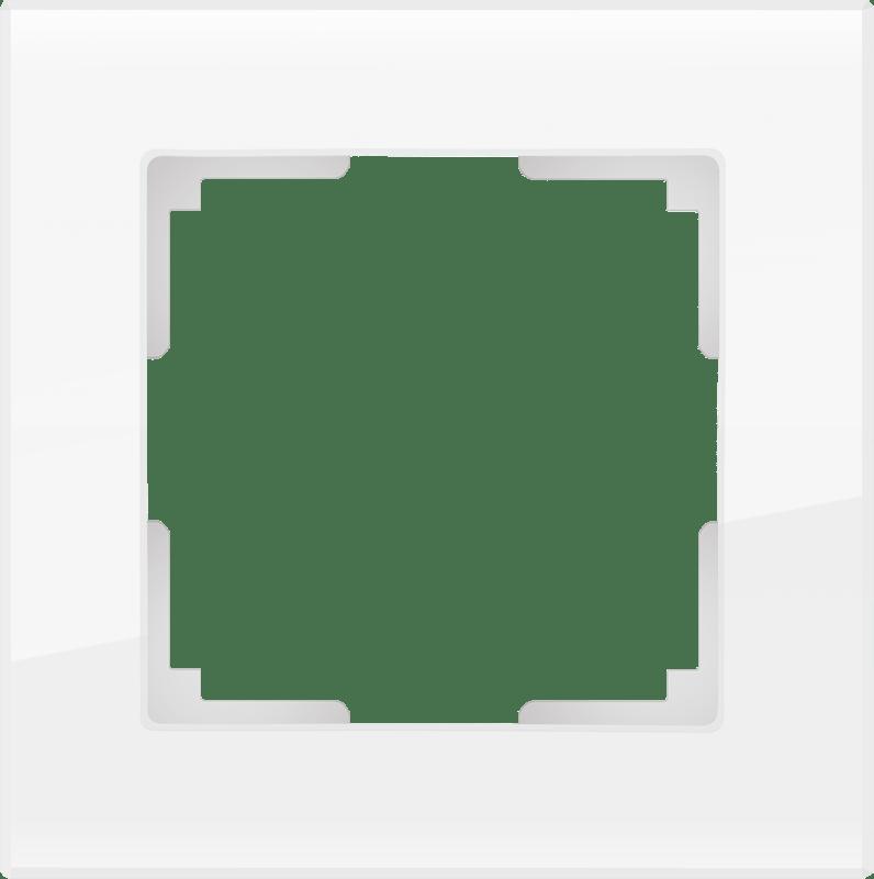 Рамка на 1 пост WL01-Frame-01 белый, стекло