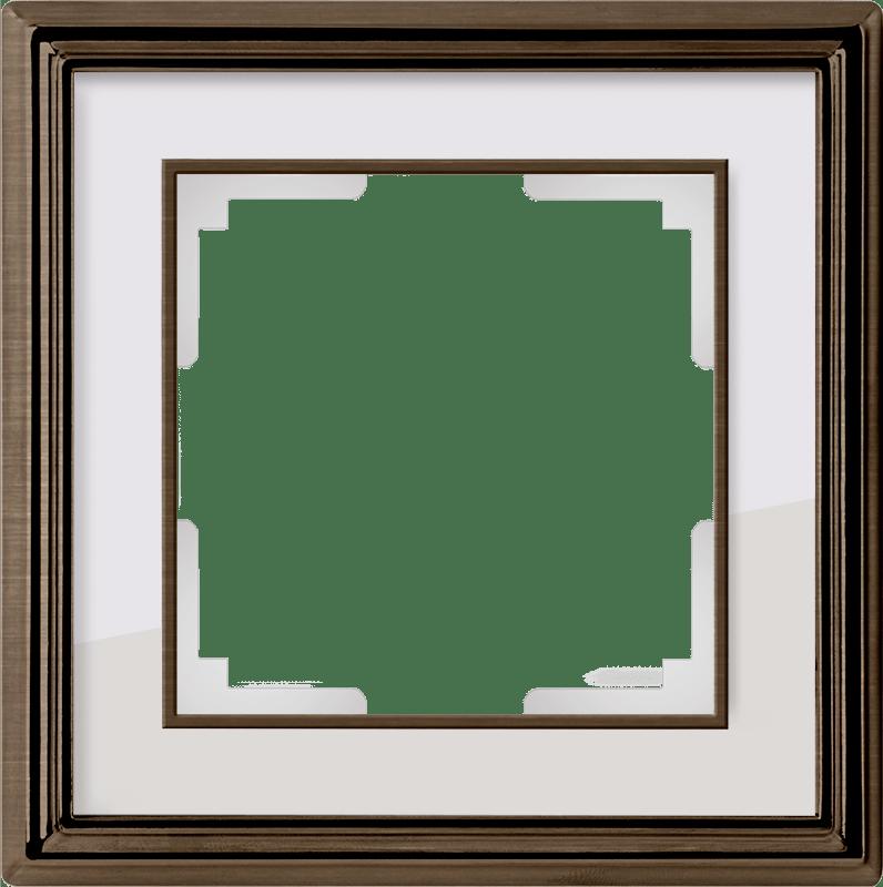 WL17-Frame-01/ Рамка на 1 пост (бронза/белый)