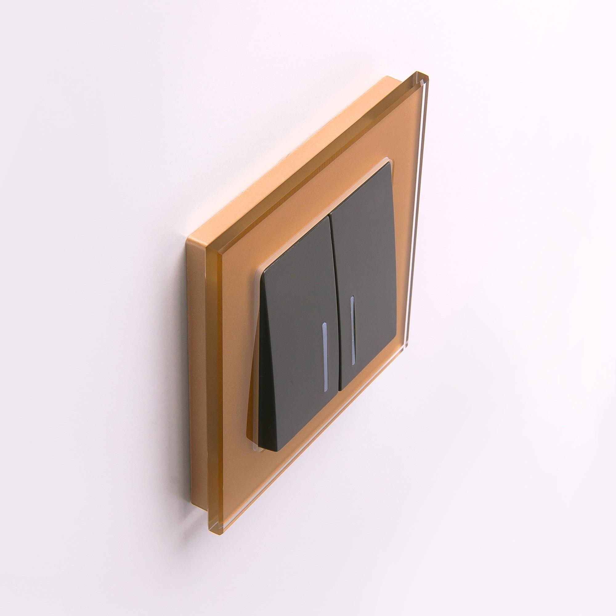 WL01-Frame-01 / Рамка на 1 пост (бронзовый,стекло)