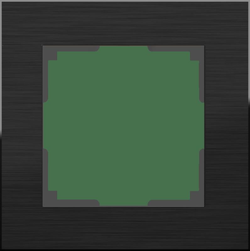 WL11-Frame-01 / Рамка на 1 пост (черный алюминий)