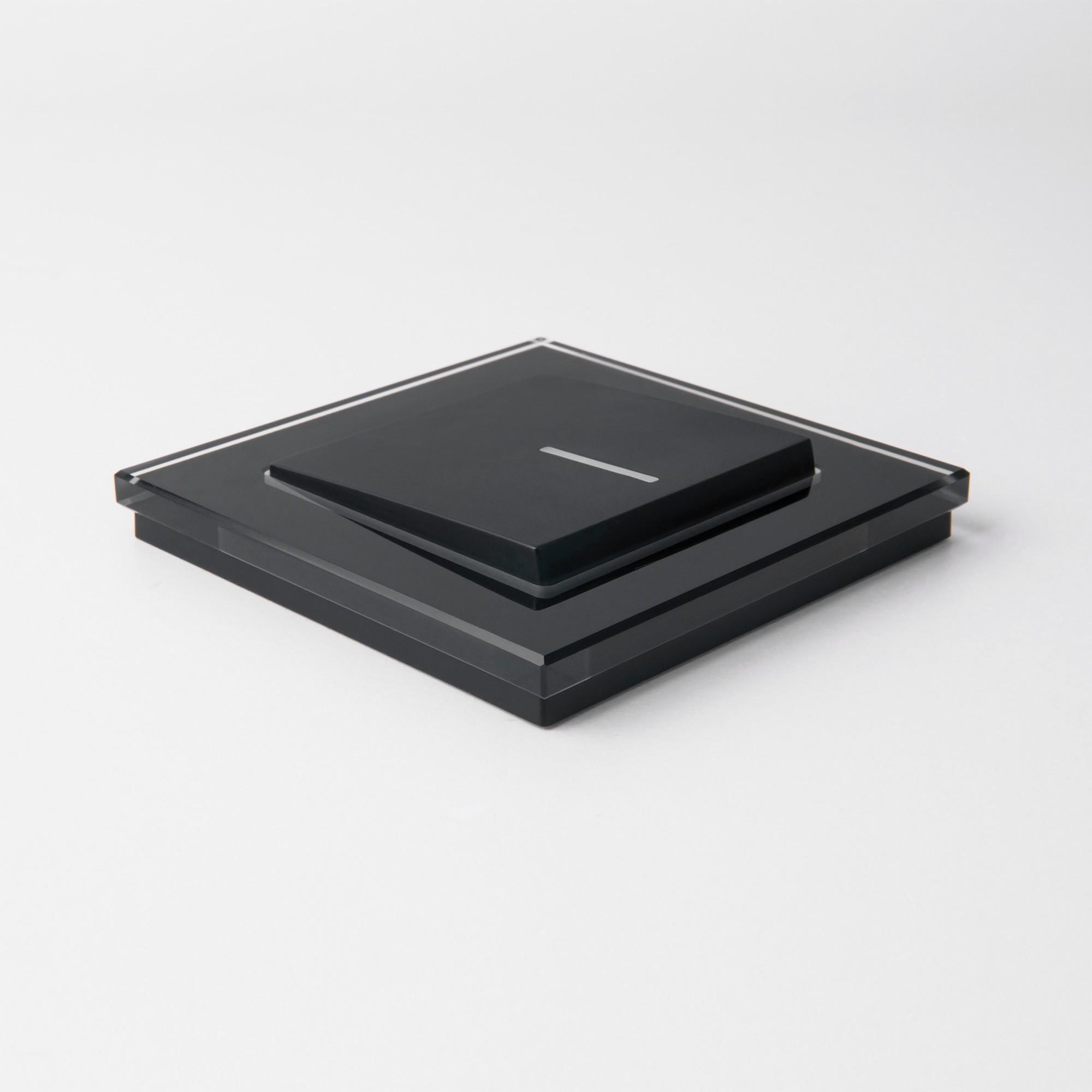 WL01-Frame-01 / Рамка на 1 пост (черный,стекло)