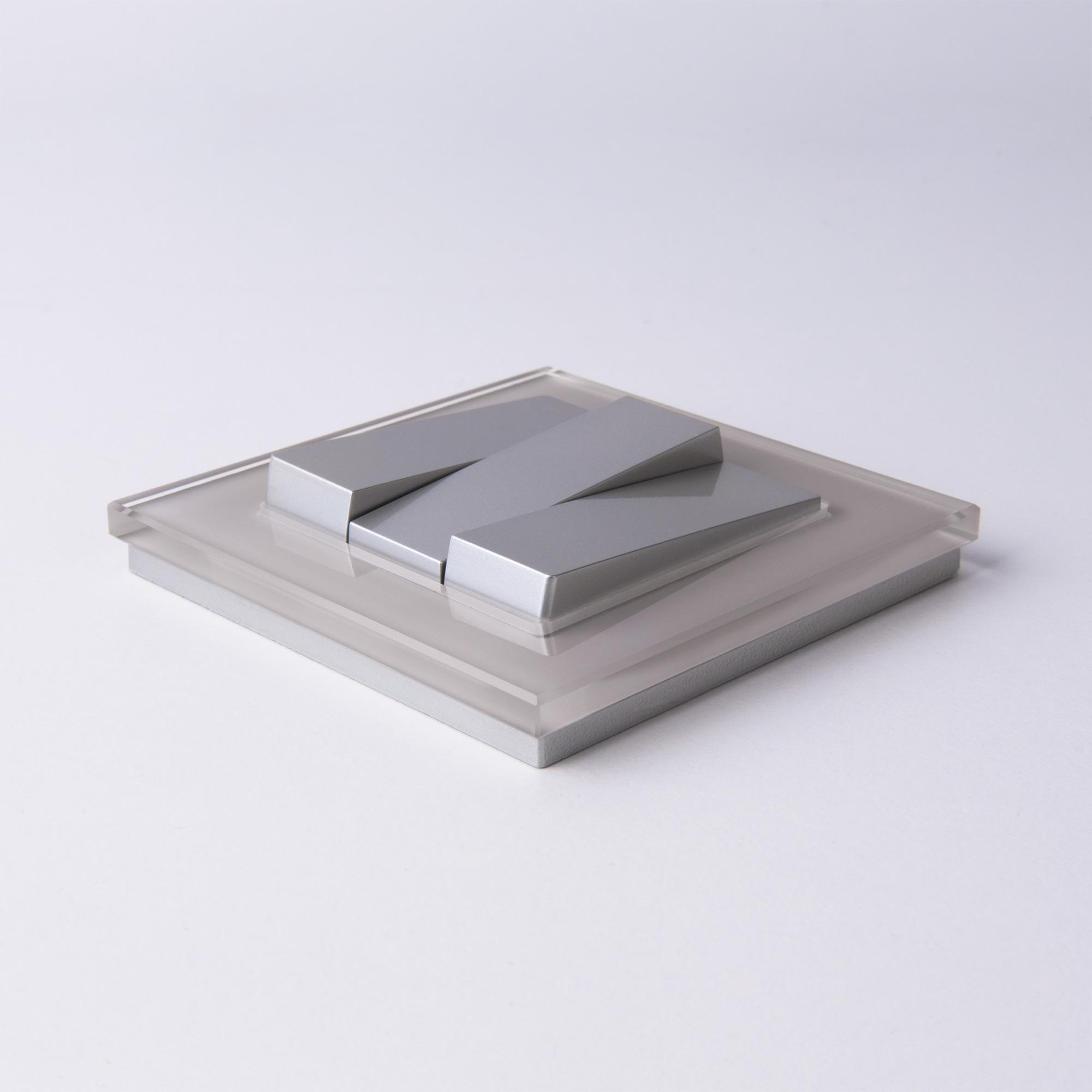 Рамка на 1 пост WL01-Frame-01 дымчатый, стекло