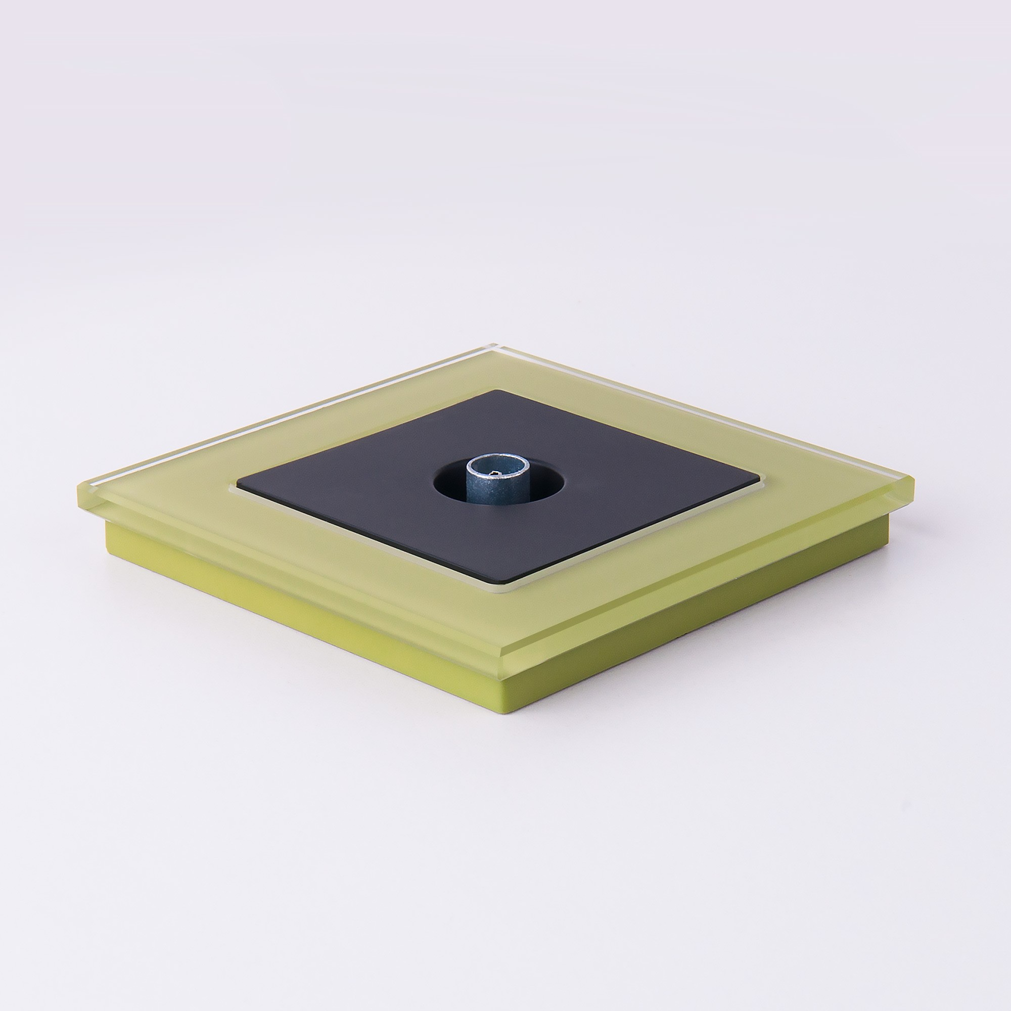 WL01-Frame-01 / Рамка на 1 пост (фисташковый,стекло)