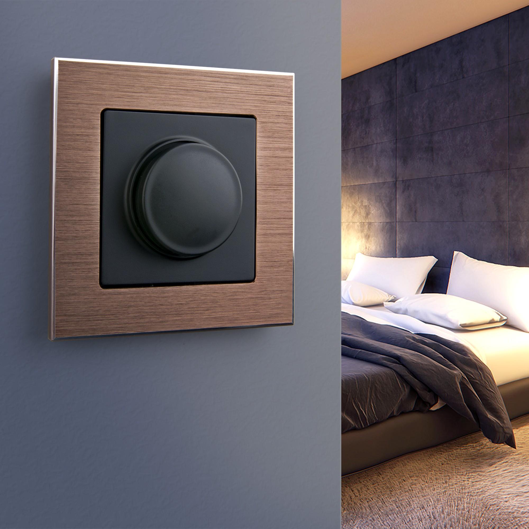 WL11-Frame-01 / Рамка на 1 пост (коричневый алюминий)