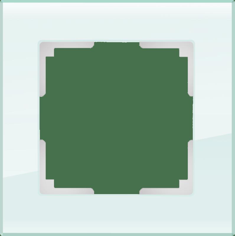 WL01-Frame-01 / Рамка на 1 пост (натуральное стекло,стекло)